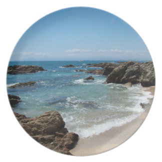 Slow Pacific Waves Dinner Plate