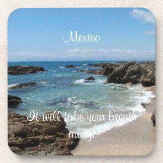 Slow Pacific Waves; Mexico Souvenir Drink Coaster