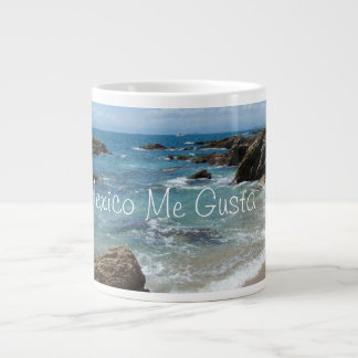 Slow Pacific Waves; Mexico Souvenir Giant Coffee Mug
