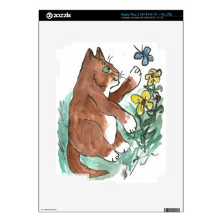 Slow Paws and Butterfly is Too Fast iPad 3 Decal