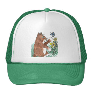 Slow Paws and Butterfly is Too Fast Trucker Hat