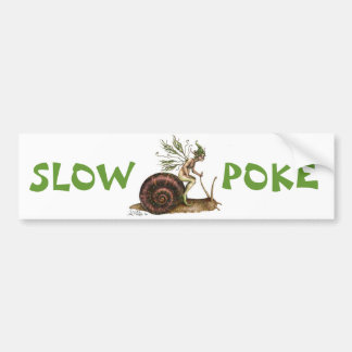 Slow Poke Bumper Sticker