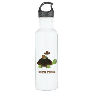 Slow Poke - cowboy snail and turtle 24oz Water Bottle
