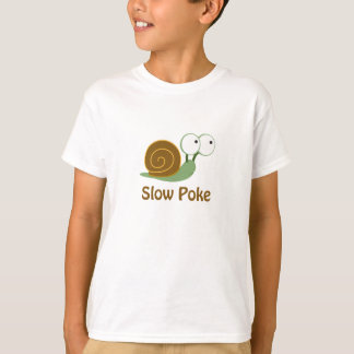 Slow Poke - Green and Brown Snail T-Shirt