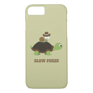 Slow Pokes - cowboy snail and turtle iPhone 8/7 Case