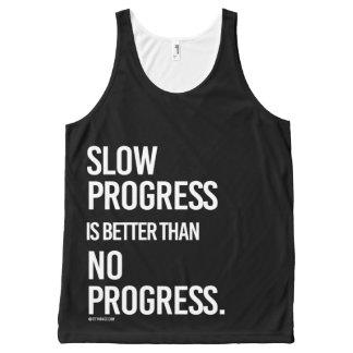 Slow progress is better than no progress -   - Gym All-Over-Print Tank Top