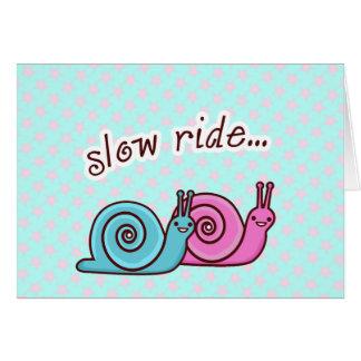 SLOW RIDE SPEEDO & SPAGO CARD