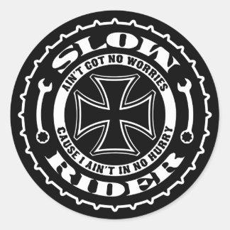 Slow Rider Classic Round Sticker