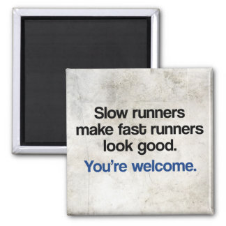 Slow Runners 2 Inch Square Magnet