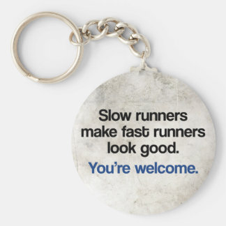 Slow Runners Basic Round Button Keychain