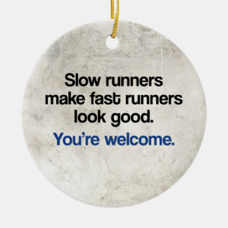 Slow Runners Double-Sided Ceramic Round Christmas Ornament