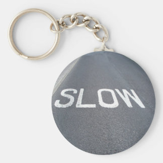 Slow sign key chains