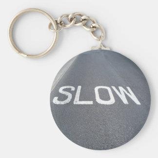 Slow sign keychain