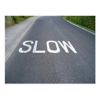 Slow sign postcard