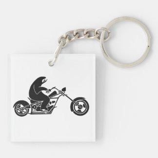 Slow Sloth On A Fast Bike Keychain