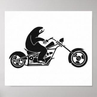 Slow Sloth On A Fast Bike Print