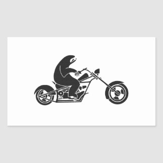 Slow Sloth On A Fast Bike Rectangular Sticker
