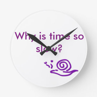 Slow Snail for Slow Time Round Clock