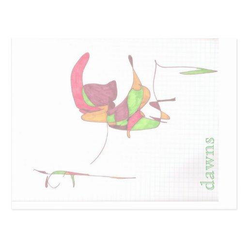 slow speak magic post card