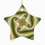 Slow Spin - Fractal Art Ceramic Ornament