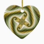 Slow Spin - Fractal Art Ceramic Ornament
