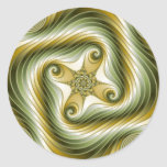 Slow Spin - Fractal Art Classic Round Sticker