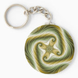 Slow Spin - Fractal Art Keychain