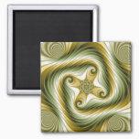 Slow Spin - Fractal Art Magnet
