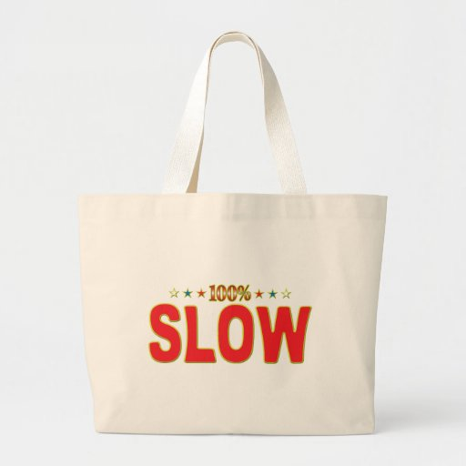 Slow Star Tag Jumbo Tote Bag