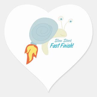 Slow Start Heart Sticker