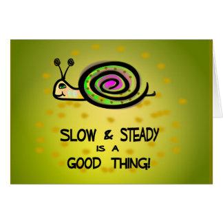 Slow & Steady Snail Belated Birthday Card 2