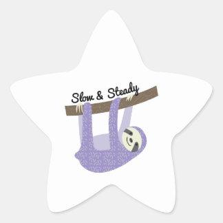 Slow & Steady Star Sticker
