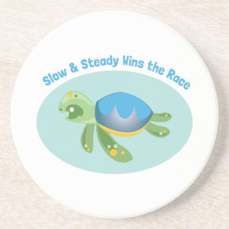Slow & Steady Wins The Race Drink Coasters