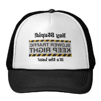 Slow Traffic Notice Trucker Hat