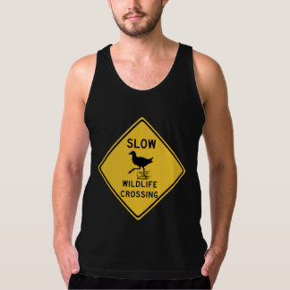 Slow Wildlife Crossing, Traffic Warning Sign, AU Tank Top