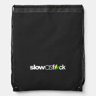 slowasfck - jdm soshinoya on faux carbon fiber drawstring backpack
