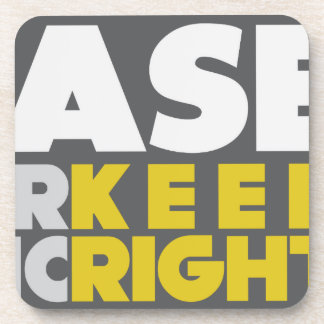 Slower Traffic Keep Right Drink Coasters