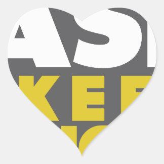 Slower Traffic Keep Right Heart Sticker