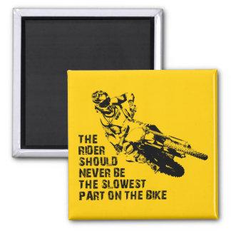 Slowest Part Dirt Bike Motocross Fridge Magnet