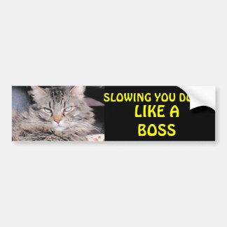 Slowing You Down Like A Boss Bumper Sticker