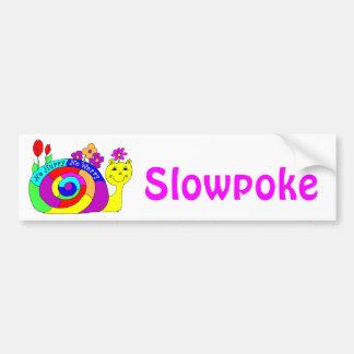 """""""Slowpoke"""" Slowpoke The Snail Bumper Sticker"""