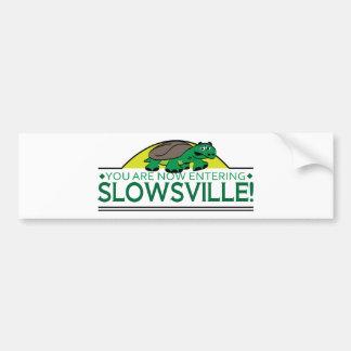 Slowsville Tortoise Bumper Sticker