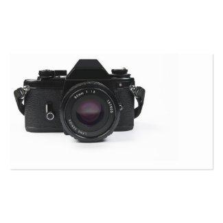 slr photo camera - classic design business card template