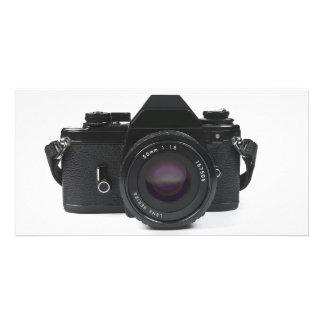 slr photo camera - classic design card