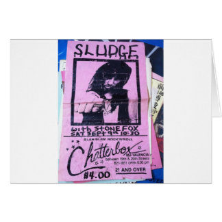 sludge at the chatterbox vintage products card