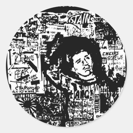 Sludge tribute to a friend Jesse Fixx Classic Round Sticker