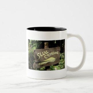 Slug Crossing Two-Tone Coffee Mug