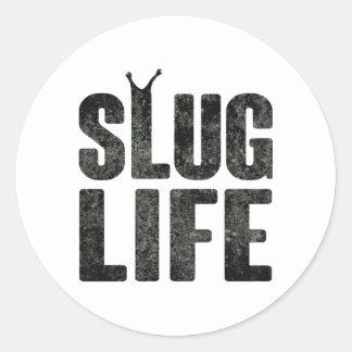 Slug Life Thug Life Round Stickers