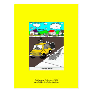 "Slug/Snail Cartoon Postcard ""Drive By Salting"""