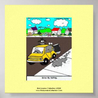 Slug/Snail Cartoon Quality Poster Print